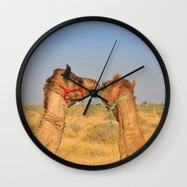 Animal love, Rajasthan, India Wall Clock