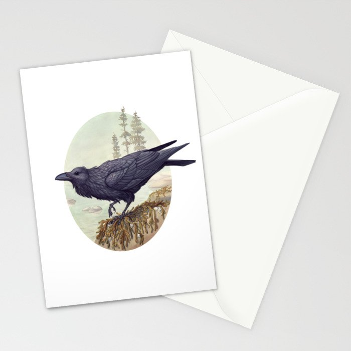 Raven of the North Atlantic Stationery Cards
