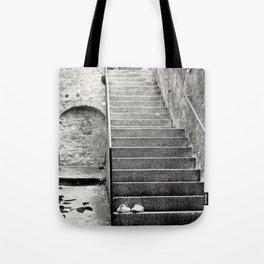 Italian street stairs Tote Bag