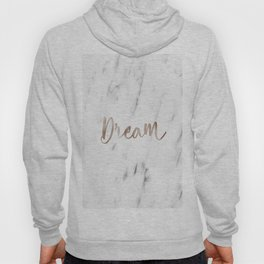Rose gold marble dream Hoody