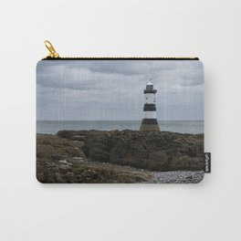 View Of The Trwyn Du Lighthouse Carry-All Pouch