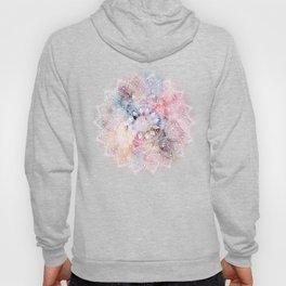 Whimsical white watercolor mandala design Hoody