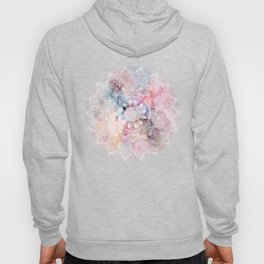 Whimsical white watercolor mandala design Hoody