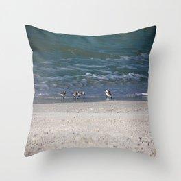 Gulf Gathering Throw Pillow