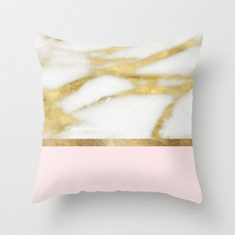 Bari Peach Marble Throw Pillow