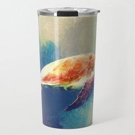Sea Turtle Painting Travel Mug