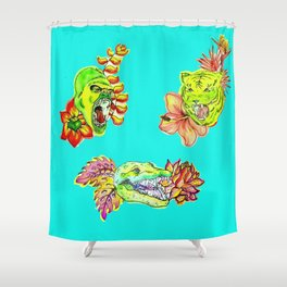 Green graow II Shower Curtain