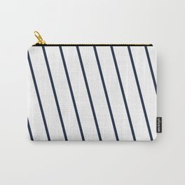 Yacht style. Navy blue diagonal stripes. Carry-All Pouch