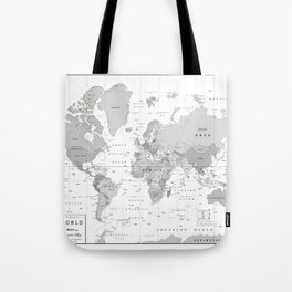 Bags by kokua design company society6 world map black and white tote bag gumiabroncs Images