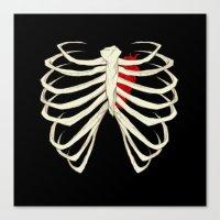 skeleton Canvas Prints featuring Skeleton by Abigail Larson