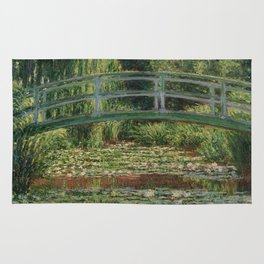 1899-Claude Monet-The Japanese Footbridge and the Water Lily Pool, Giverny-89 x 93 Rug