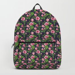 Roses -Navy Backpack