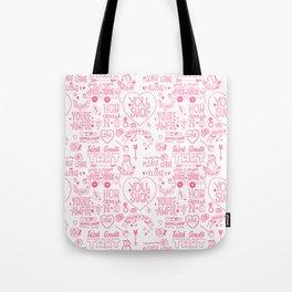 Obscenities Print Tote Bag