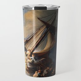 The Storm on the Sea of Galilee-Rembrandt Travel Mug