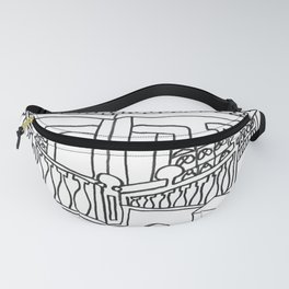 Beautiful Mediterranean Rooftop Escape Fanny Pack