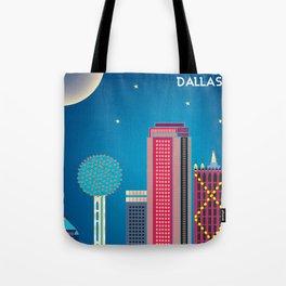 Dallas, Texas - Skyline Illustration by Loose Petals Tote Bag