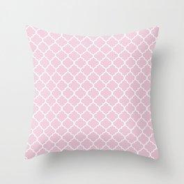 Pink quatrefoil Throw Pillow