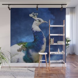 Peacock and Blue Sky Wall Mural