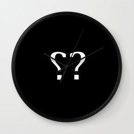 sarcasm symbol Wall Clock