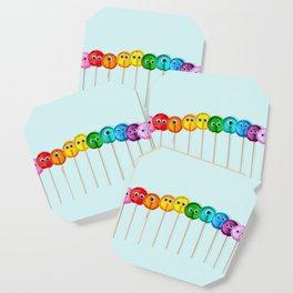 Lollipop Rainbow Coaster