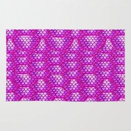 Magenta Snake Skin Pattern Rug