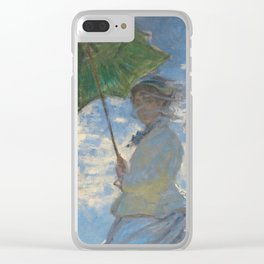 Woman with a Parasol - Madame Monet and Her Son Clear iPhone Case