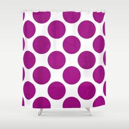 Fuchsia Polka Dot Shower Curtain