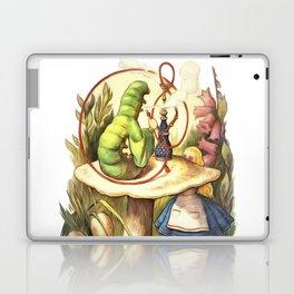 Alice & The Hookah Smoking Caterpillar - Alice In Wonderland Laptop & iPad Skin