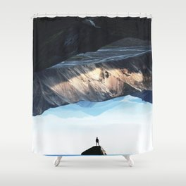 DEEP BREATH Shower Curtain