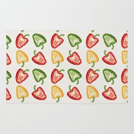Mixed Peppers Pattern Rug