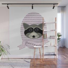 Mevrouw Raccoon Wall Mural