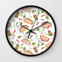 """Tacos are """"Hot Stuff"""" and we love them! Wall Clock"""
