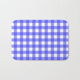 Plaid (Blue & White Pattern) Bath Mat