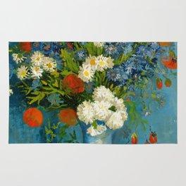 Vincent Van Gogh Vase With Cornflowers And Poppies Rug
