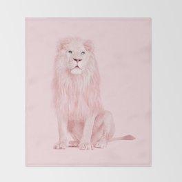 PINK LION Throw Blanket