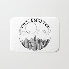 Los Angeles in a glass ball 2  ( https://society6.com/vickonskey/collection ) Bath Mat