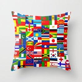 Flag Montage Throw Pillow