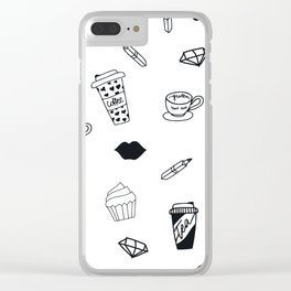 Coffee and Cupcakes Clear iPhone Case