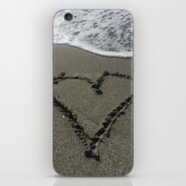 Sand Heart iPhone Skin