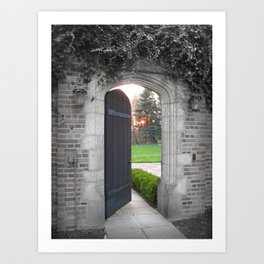 I Stand at the Door Art Print