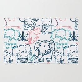 Elephant Parade Rug