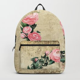 Wreath #Rose Flowers #Royal collection Backpack
