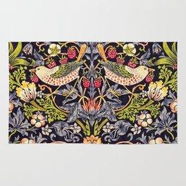 William Morris Strawberry Thief Art Nouveau Painting Rug