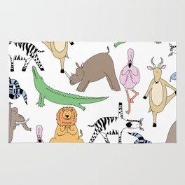 safari animal yoga Rug