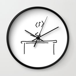 gym balance beam Wall Clock