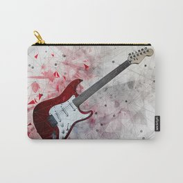 Red Electric Guitar Carry-All Pouch