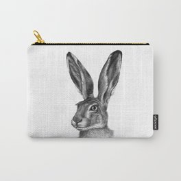 Cute Hare portrait G126 Carry-All Pouch