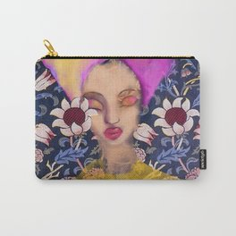 Enchanted Garden Romantic Floral Art Nouveau Watercolor Portrait Carry-All Pouch