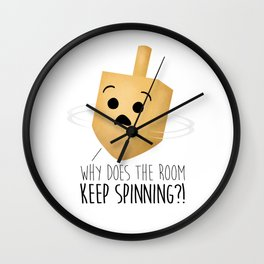 Why Does The Room Keep Spinning?! Wall Clock