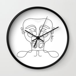 Sophisticated Scalp Wall Clock